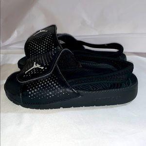 Jordan Hydro 10C Toddler Sandals Black/White/Cool